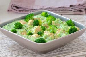 Курица в соусе из брокколи, рецепт