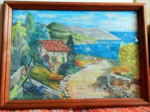 Картина, дорога к морю
